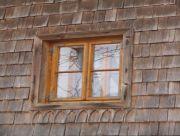 Fassade mit Fichtenschindeln